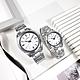 SEIKO 精工 限量款 140週年 簡約時尚 日期 不鏽鋼手錶 情人對錶-銀白色/40mm+30mm product thumbnail 1