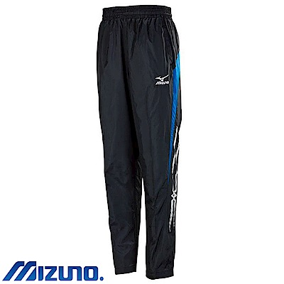 MIZUNO 美津濃 男風衣套裝褲子 黑X法國藍 32TF758992