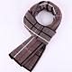 米蘭精品 羊毛圍巾-時尚英倫格紋針織男披肩情人節生日禮物3色73wh82 product thumbnail 1