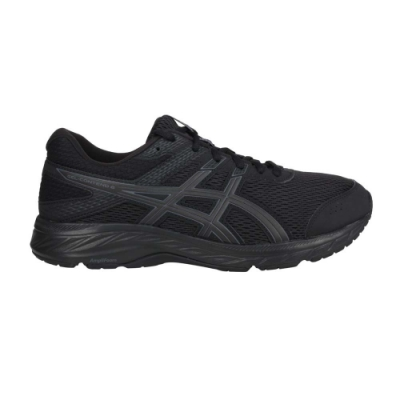 ASICS GEL-CONTEND 6 男慢跑鞋-4E-慢跑 路跑 寬楦 亞瑟士 1011A666-002 黑灰