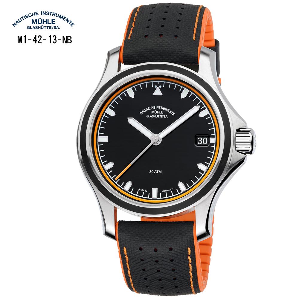 格拉蘇蒂-莫勒 航海系列 越野設計 M1-42-13-NB 機械男錶