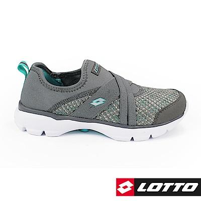 LOTTO 義大利 女 EASYWEAR 樂活輕跑鞋 (灰/松石綠)