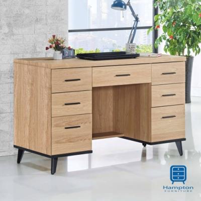漢妮Hampton艾迪蒂黃橡木4尺書桌-120x59x80.9