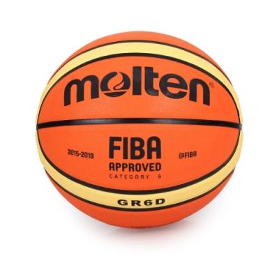 MOLTEN #6橡膠深溝12片貼籃球 Molten 橘黃