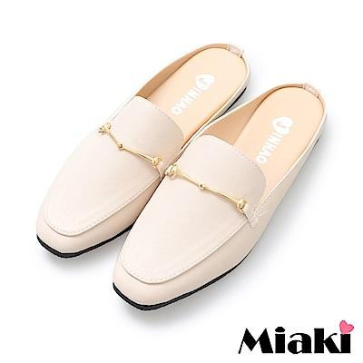 Miaki-穆勒鞋時尚嚴選低跟休閒鞋-米