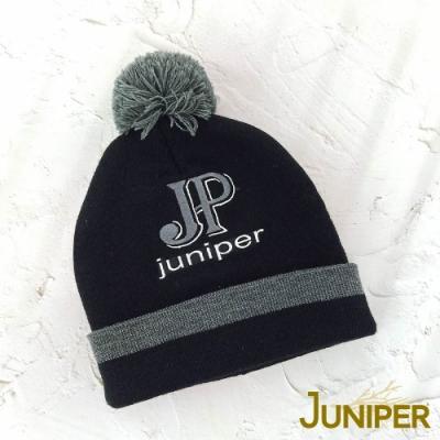JUNIPER禦寒防風雙層加厚可愛澎澎球針織毛線冬帽