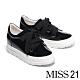 休閒鞋 MISS 21 極簡純色可替式鞋帶設計全真皮厚底休閒鞋-黑 product thumbnail 1