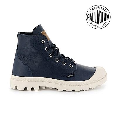 Palladium Pampa HI LTH UL經典皮革靴-女-藍