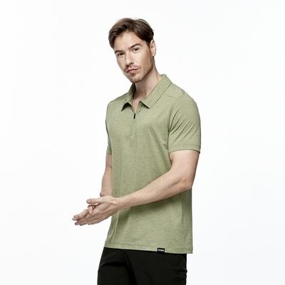 【HAKERS 哈克士】男 抗UV吸溼排汗POLO衫(四葉綠)