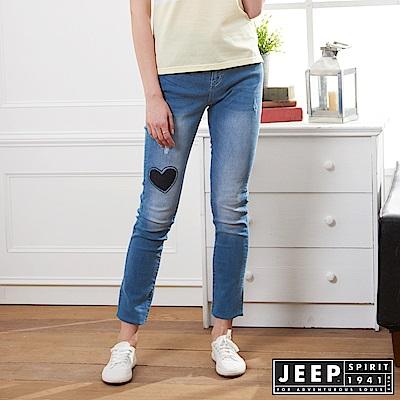 JEEP 女裝 修身刷色牛仔褲