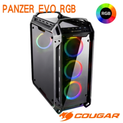 COUGAR 美洲獅 PANZER EVO RGB 4面全景鋼化玻璃機箱 直立式電競機殼