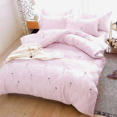 Saint Rose頂級精緻100%天絲兩用被床包組(包覆高度35CM)-輕舞飛揚-粉-加大