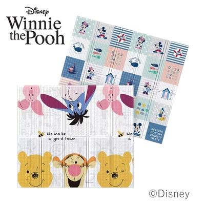 【Disney 迪士尼】攜帶型1.5CM摺疊遊戲墊- 維尼有約+米奇樂園