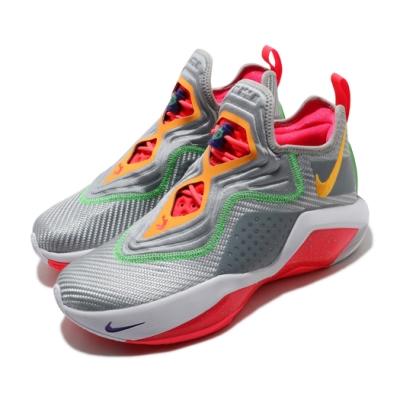 Nike 籃球鞋 LeBron Soldier XIV 男鞋 避震 包覆 明星款 LBJ 運動 球鞋 灰 紅 CK6047001
