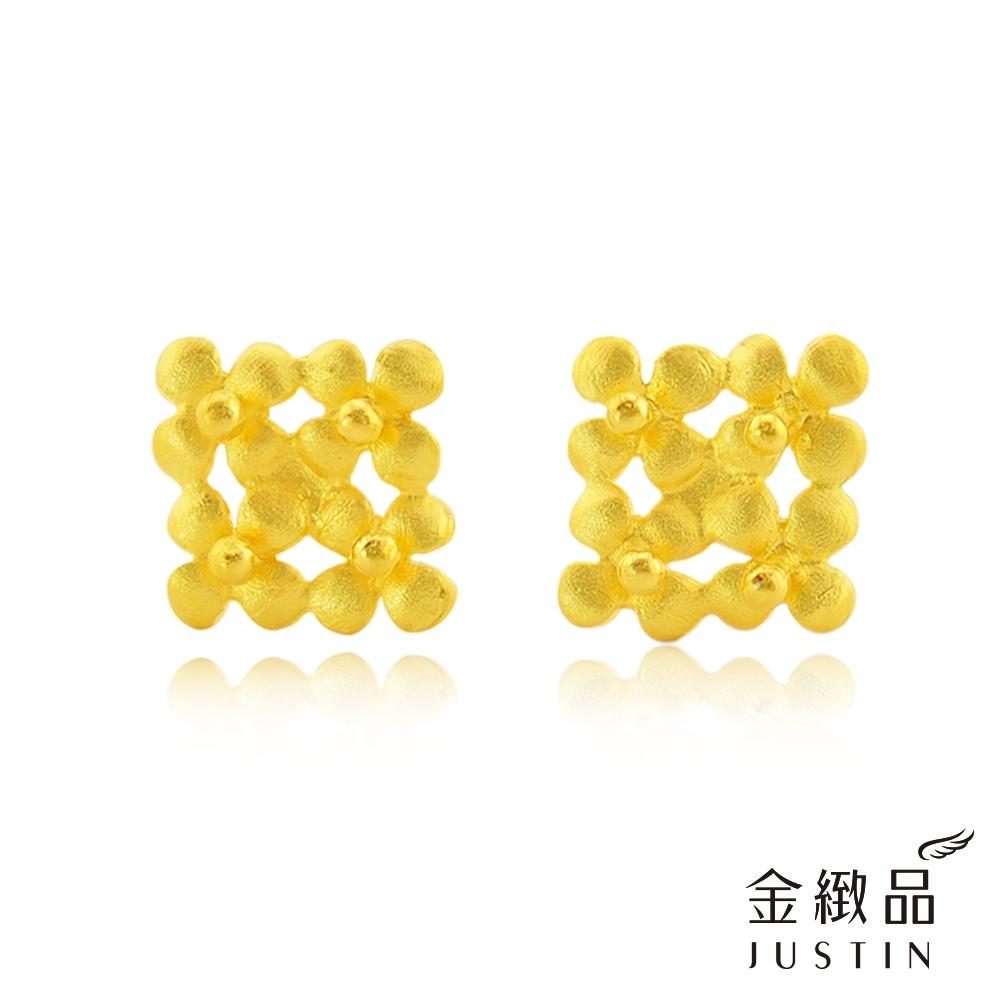 金緻品 黃金耳環 花綻柔情 0.36錢