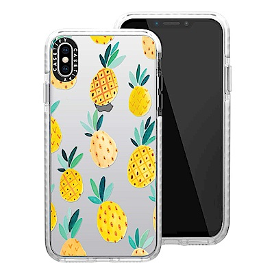 Casetify iPhone XS Max 耐衝擊保護殼-鳳梨派對
