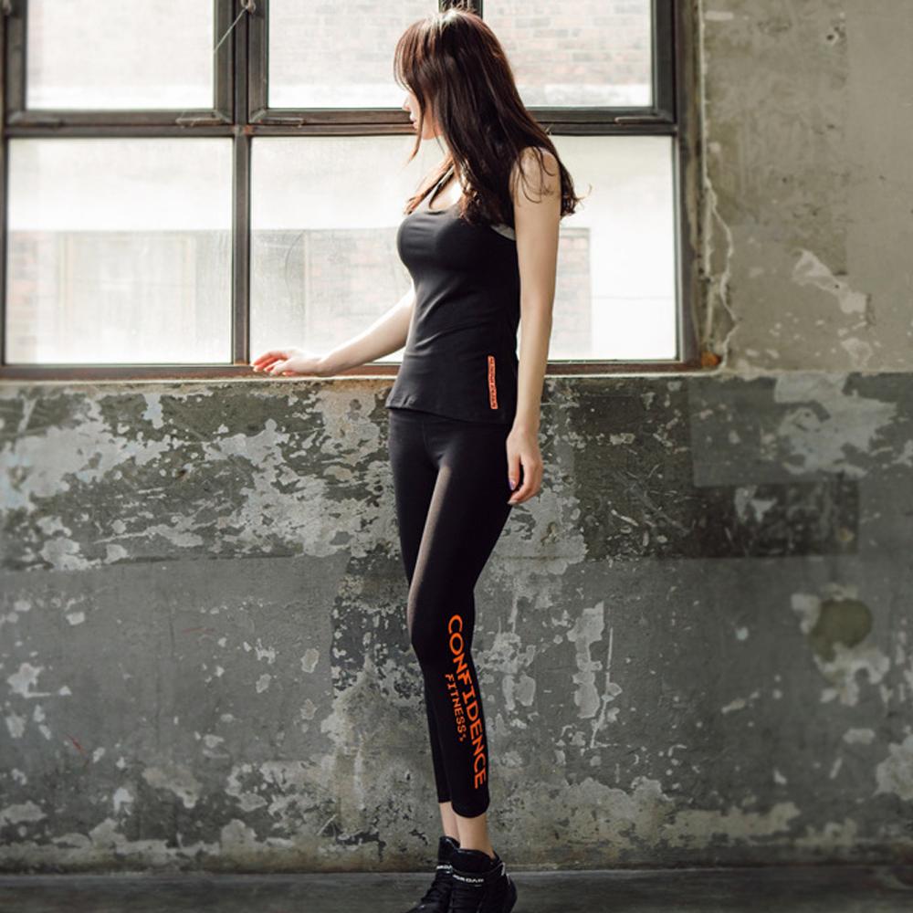 東橙彈力美背運動套裝有加大M-2XL(整套)    狐狸姬