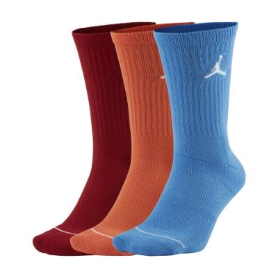 NIKE 襪子 運動襪 中筒襪 喬丹 6雙組 紅橘藍 SX5545911 U J EVERYDAY MAX CREW 3PR