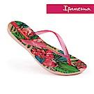IPANEMA 熱帶花卉 夾腳拖鞋-粉色/綠色