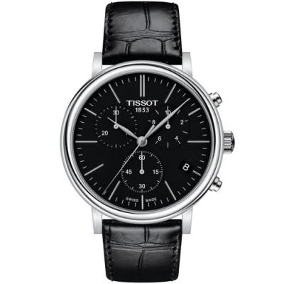 TISSOT天梭 CARSON PREMIUM經典時尚手錶(T1224171605100)-41mm