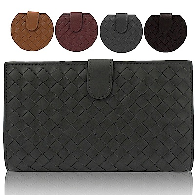 BOTTEGA VENETA 編織羊皮扣式中夾均一價$16800(5色)