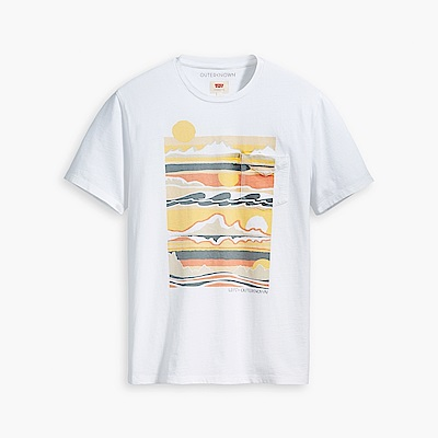 Levis X outerknown 男款 短袖T恤 黃昏海景印花 回收再造棉