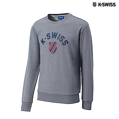 K-Swiss Crew Neck Sweatshirt圓領長袖上衣-女-灰