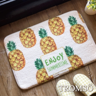 TROMSO羔羊絨吸水小地墊-S417歡樂菠蘿