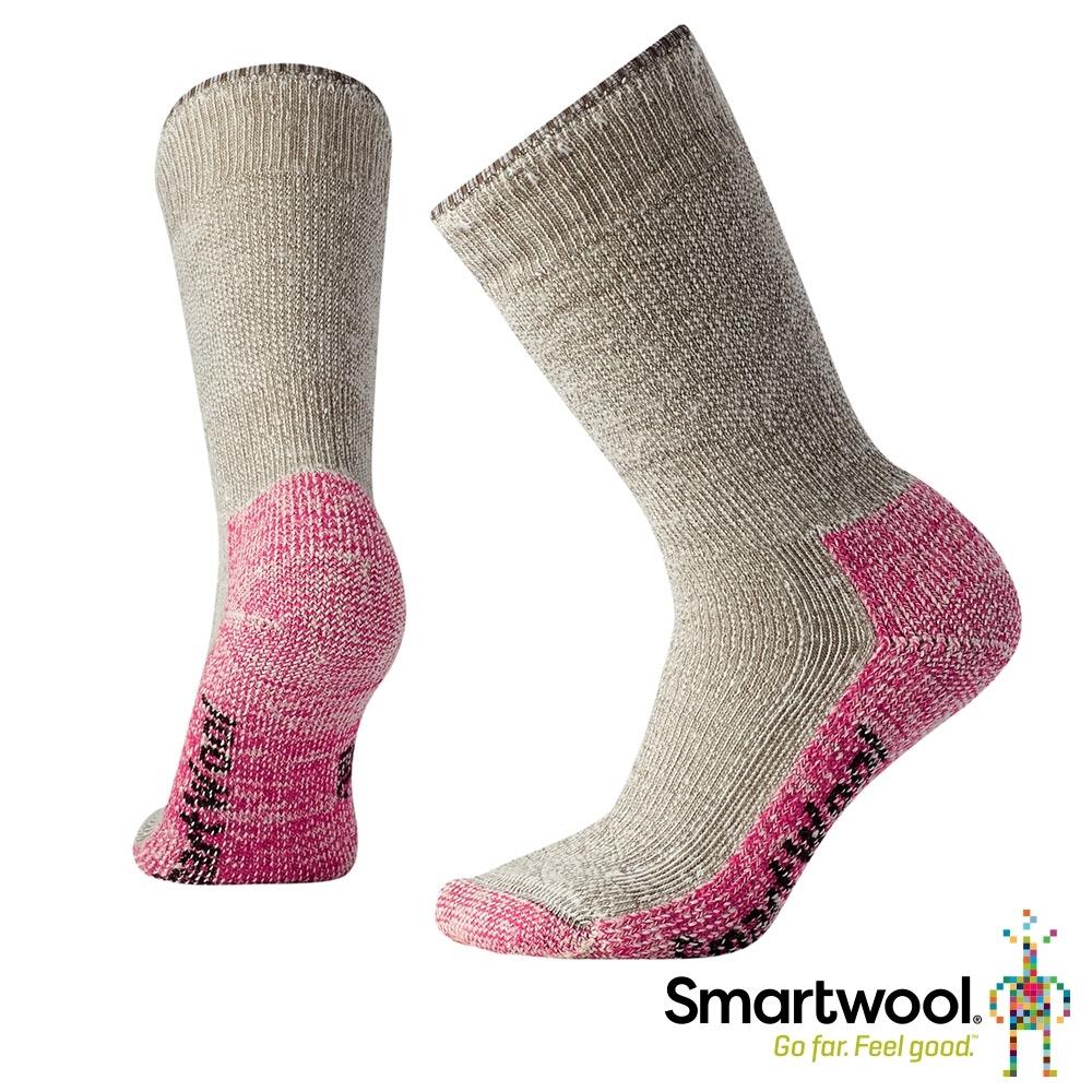 SmartWool 女款 超級避震墊型登山中長襪 灰褐/淺粉色