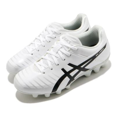 Asics 足球鞋 DS Light 3 Jr 運動 童鞋 亞瑟士 草地專用 膠釘 中童 白 黑 1104A002103