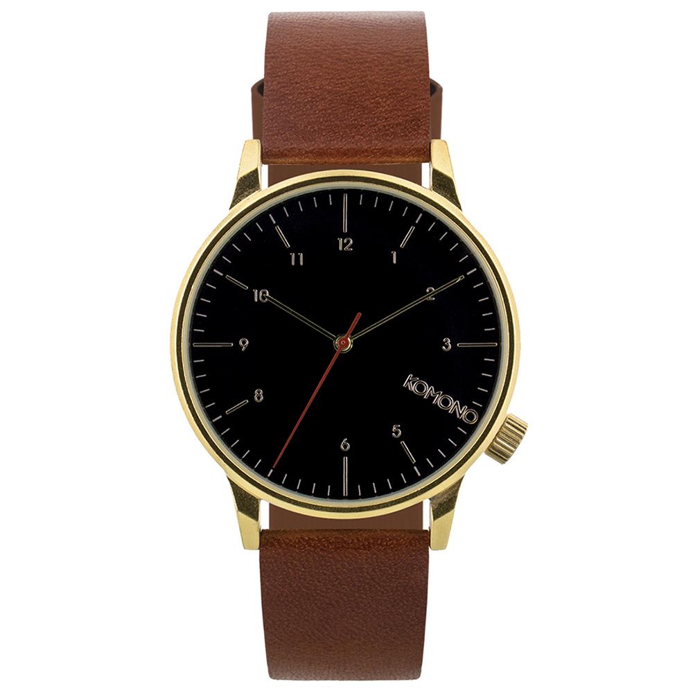 KOMONO Winston Regal 腕錶-核桃褐/41mm