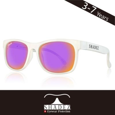 瑞士SHADEZ兒童頂級偏光太陽眼鏡SHZ-412(年齡3-7)-白框新潮紫