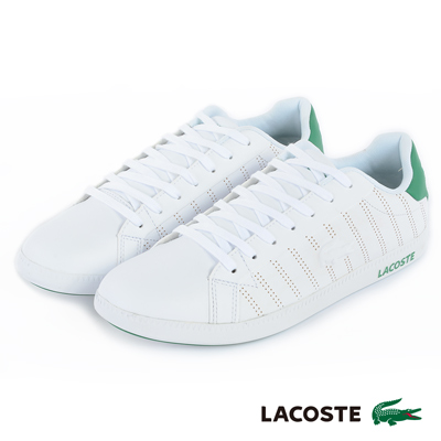 LACOSTE 女用休閒鞋-白/綠