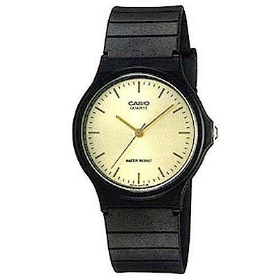 CASIO 超輕薄感數字錶(MQ-24-9E)-黃色釘字面