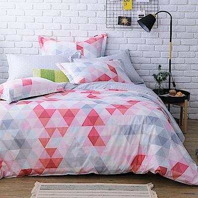 IN HOUSE-pink prism-200織紗精梳棉-兩用被床包組(特大)