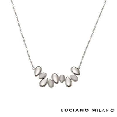 LUCIANO MILANO 浪漫水滴春漾純銀項鍊