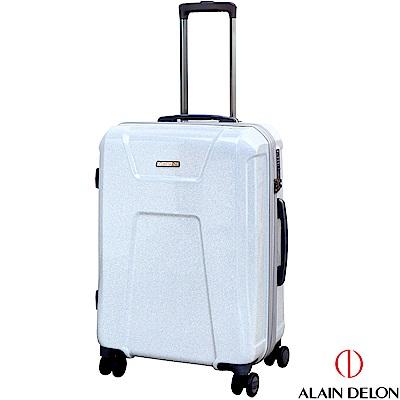 ALAIN DELON 亞蘭德倫 24吋星燦夜光系列行李箱(銀白)