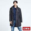 EDWIN EFS防水機能長版風衣外套-男-黑色