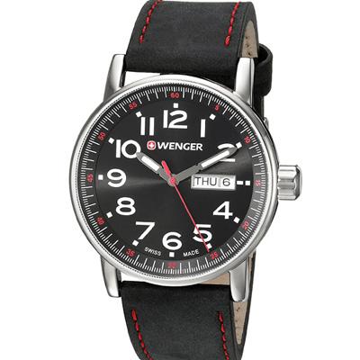 WENGER Attitude 極限特工時尚腕錶(01.0341.103)黑/42mm