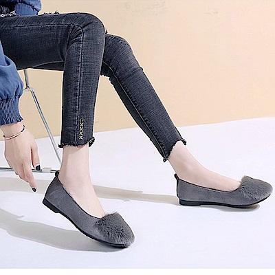 韓國KW美鞋館 韓新品甜美玩色平底鞋-灰色