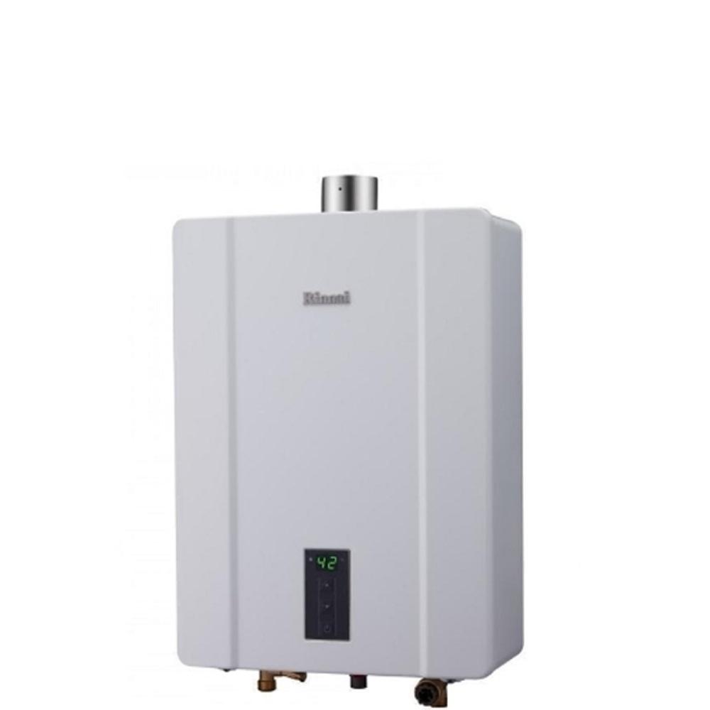 (全省安裝)林內13公升數位恆溫強制排氣屋內熱水器桶裝瓦斯RUA-C1300WF_LPG