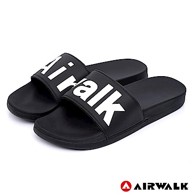 【AIRWALK】 街頭潮流運動拖鞋-黑