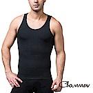 男性塑身衣 coolmax涼感排汗快乾背心 Charmen  黑色