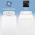 【美國奇異GE】15KG/12KG直立洗烘衣機組合(GTW465ASWW+7012瓦斯型)