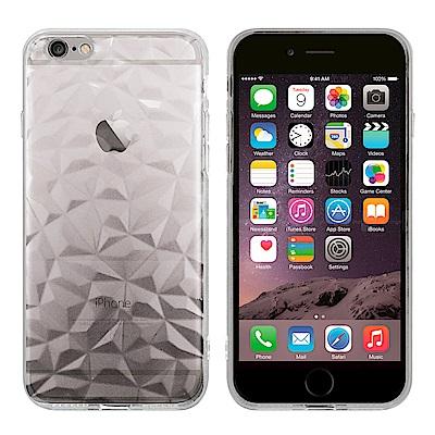 Metal-Slim Apple iPhone 6 3D鑽石透明TPU保護殼