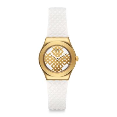 Swatch Irony 金屬Lady系列手錶 MOUCHARABIA 幾何 -25mm