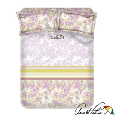 Arnold Palmer雨傘牌 迷草醉月粉-台製60紗精梳棉床包被套雙人四件組