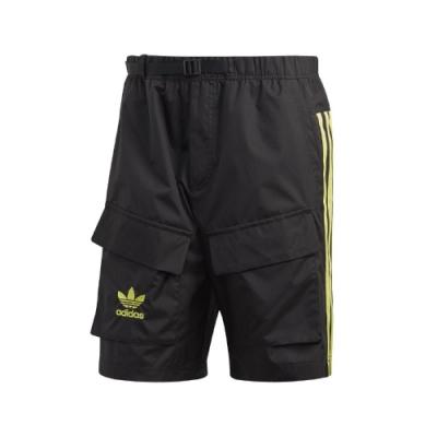 adidas 短褲 Woven Shorts 運動休閒 男款 愛迪達 三葉草 三線 口袋 基本款 黑 綠 橘 GK5916