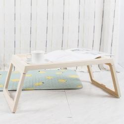 樂嫚妮 懶人桌/電腦桌/床上/多功能/折疊-米黃-68X35X27.5cm