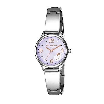 HELLO KITTY 凱蒂貓 時尚星鑽手錶-淺紫x銀/31mm